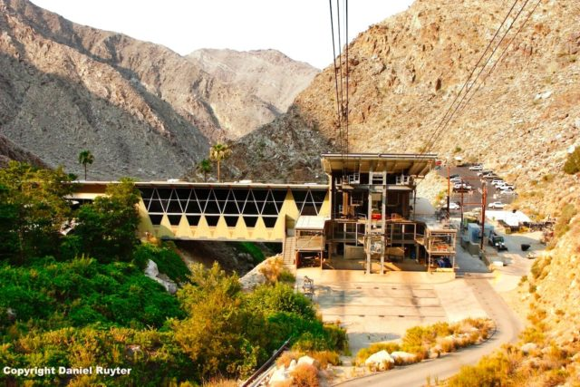 Palm Springs Aerial Tram Review - Pulling Away From the Lower Tram Station