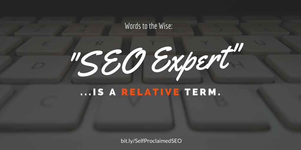 """SEO Expert"" is a Relative Term"