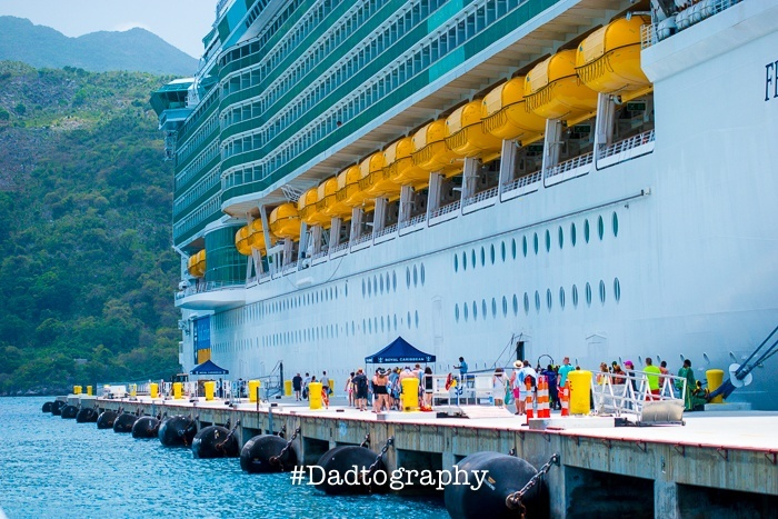 Freedom of the Seas Cruise Ship in Port at Labadee, Haiti