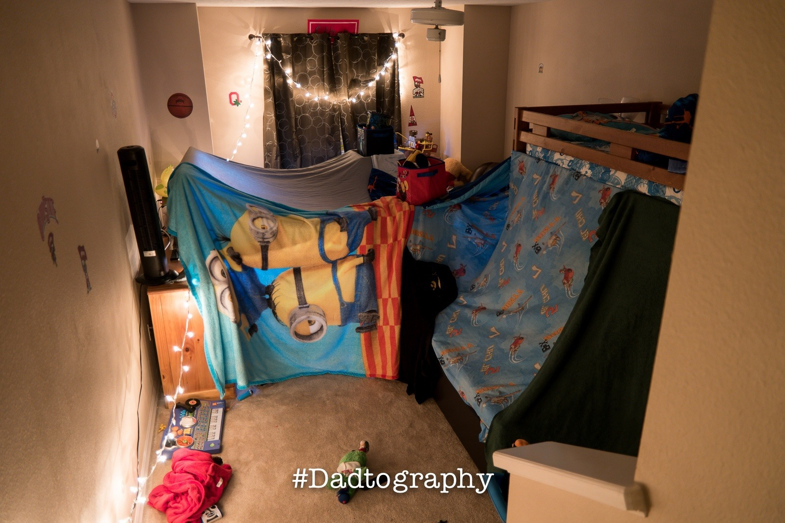 We made an epic movie blanket fort.