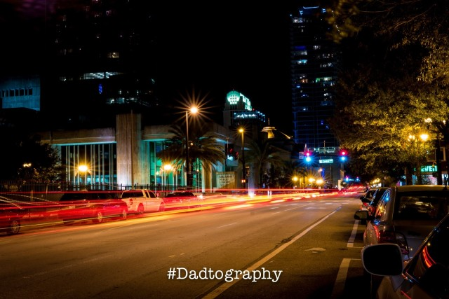 Long Exposure Light Trails - Downtown Orlando
