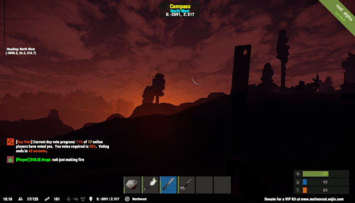 Rust: A Game About (Not) Dying