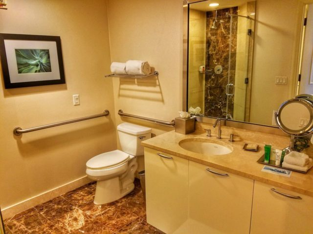 Looking into the bathroom - Hilton Ft. Lauderdale Beach Resort