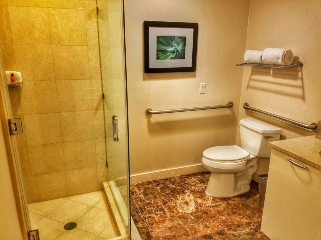 Shower and toilet area - Hilton Ft. Lauderdale Beach Resort