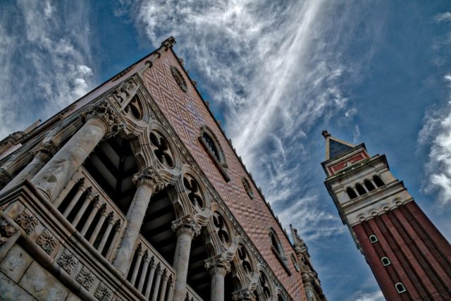 HDR Photography - Beautiful Sky Over Italian Architecture