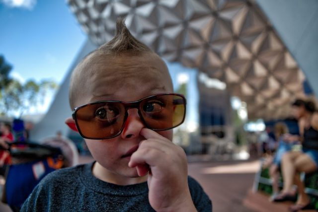 HDR Photography - Boys will be boys at Epcot Orlando