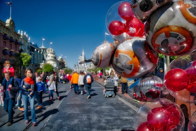 HDR Photography - Main Street USA at Magic Kingdom Orlando