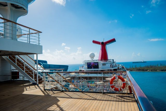 Carnival Liberty Review - Outside Deck Looking Back