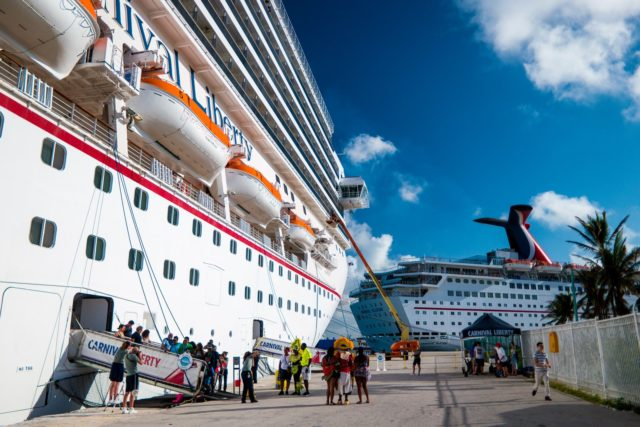 Carnival Liberty Review - In port at Freeport, Bahamas
