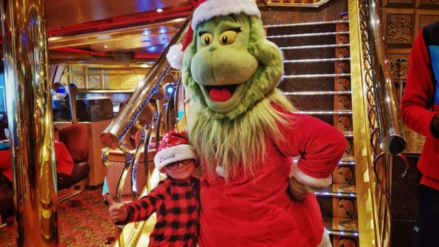 Carnival Liberty Review - My son with the Grinch