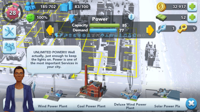 SimCity BuildIt Power Stations