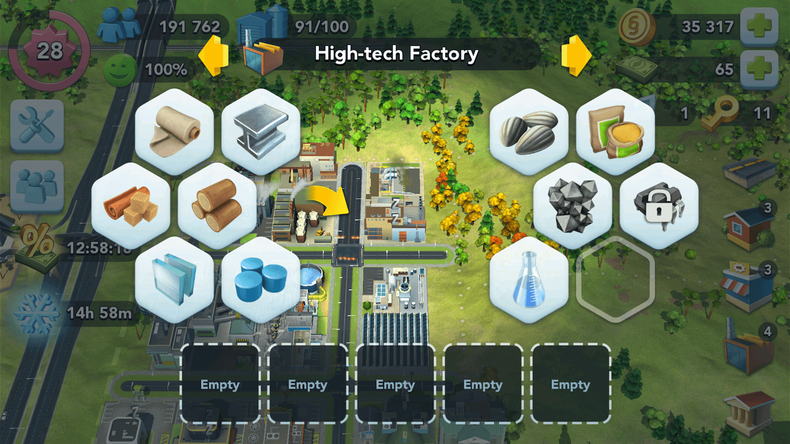 SimCity BuildIt Factory