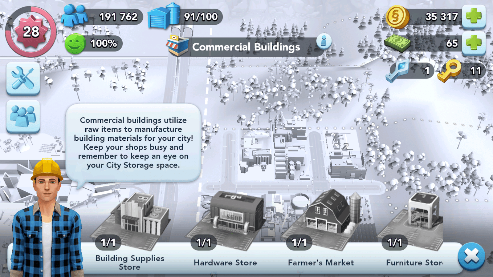 SimCity BuildIt Commercial Buildings