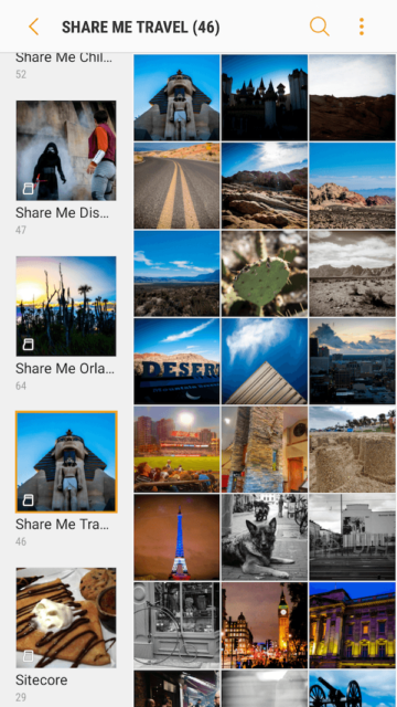 Example Smartphone Gallery Folder Structure