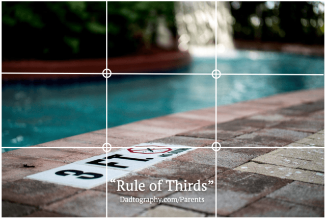 Rule of Thirds - Pool Depth Sign