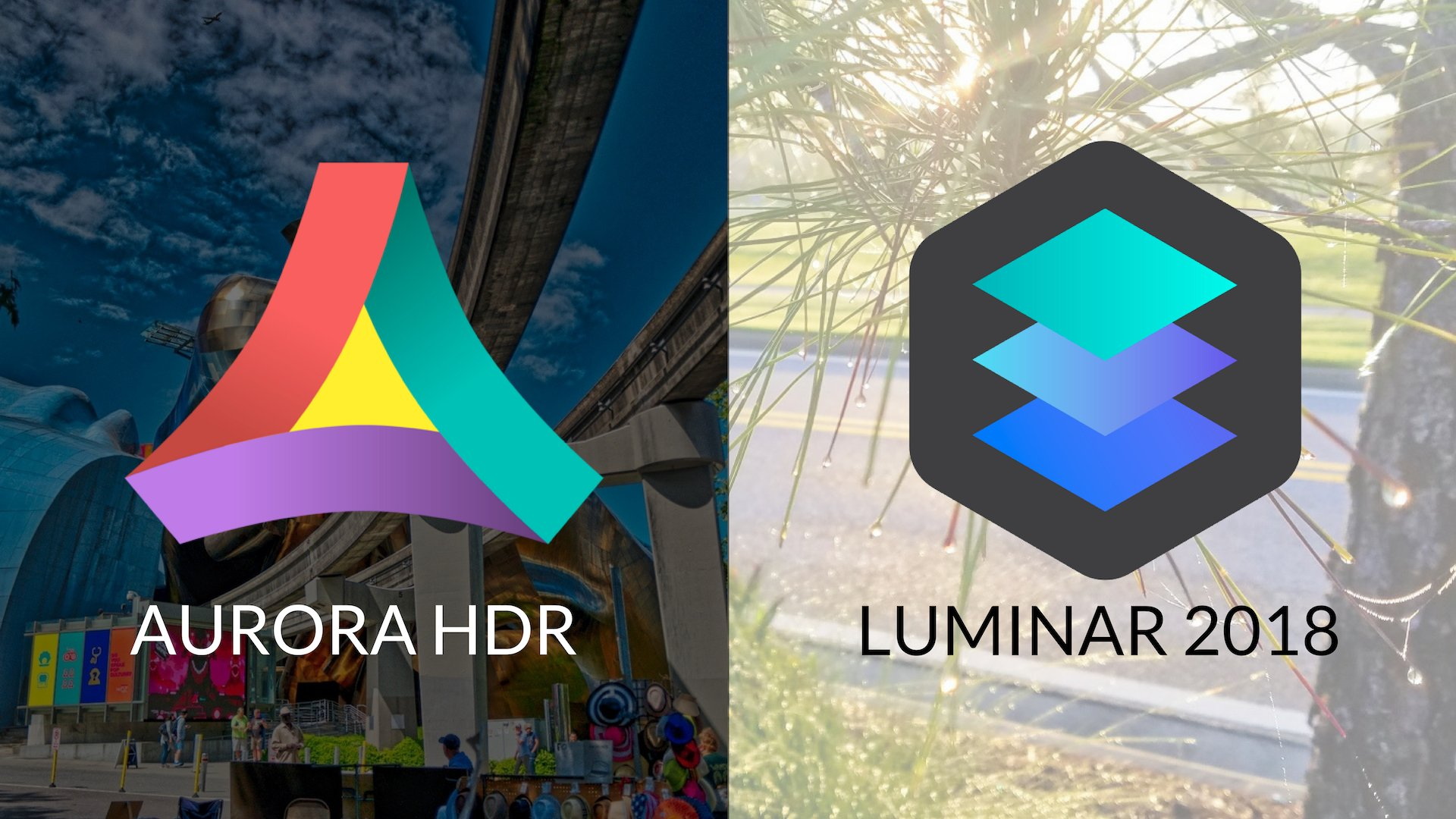 Aurora HDR vs Luminar Social Media Share