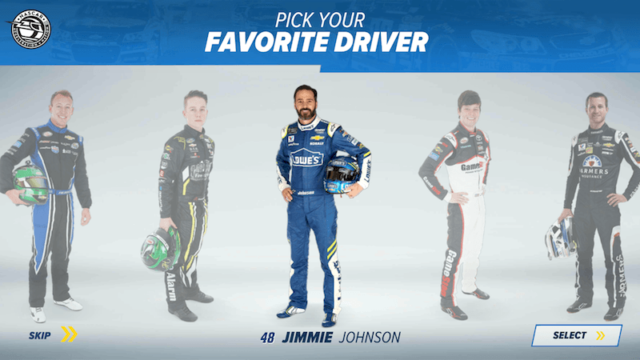 My Favorite Driver in NASCAR Acceleration Nation App