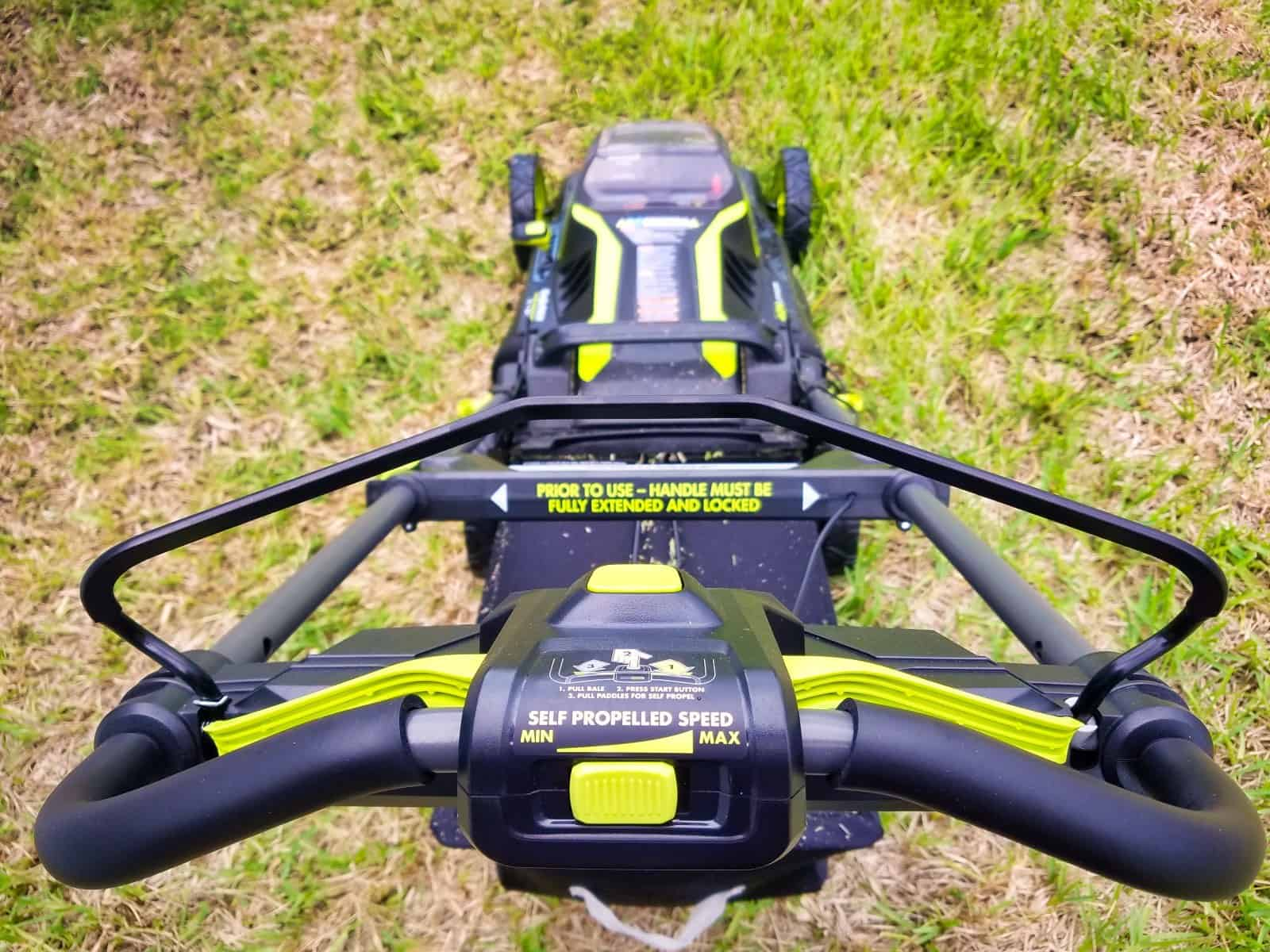 ryobi 40v cordless lawn mower review with photos and video. Black Bedroom Furniture Sets. Home Design Ideas