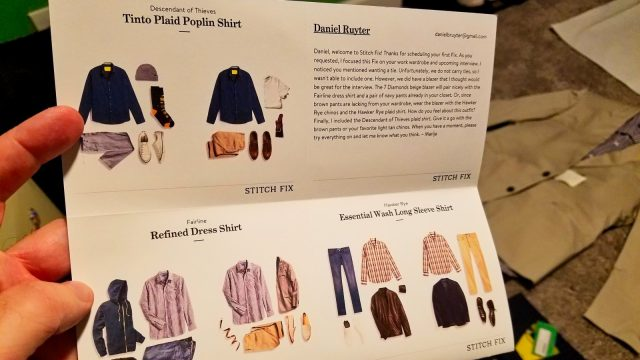 Stitch Fix Review - Notes from Stylist