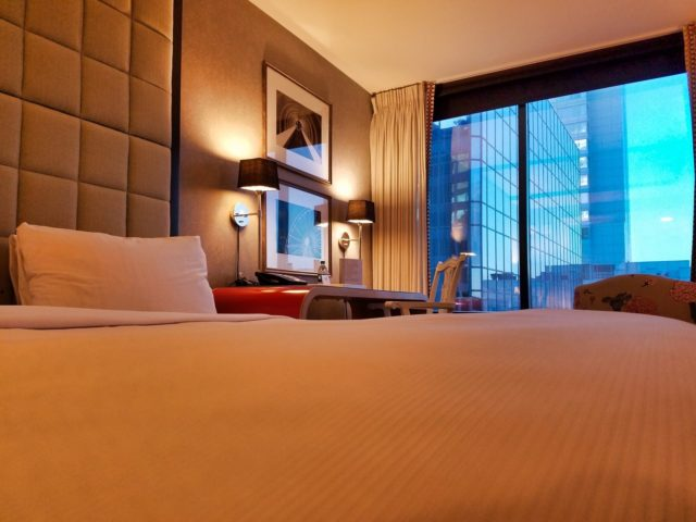 W Hotels Buckhead Atlanta On the Bed Looking Out