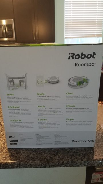 iRobot Roomba 690 Review - Back of Box