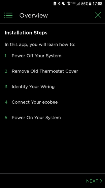 Ecobee installation steps - Ecobee Mobile App Install Steps - Ecobee4 Review