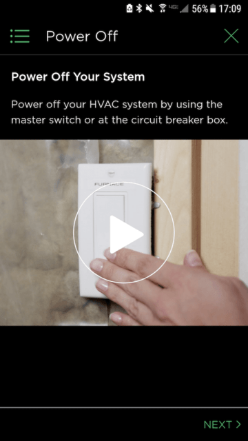 Video Demo 2 Turn off power - Ecobee Mobile App Install Steps - Ecobee4 Review
