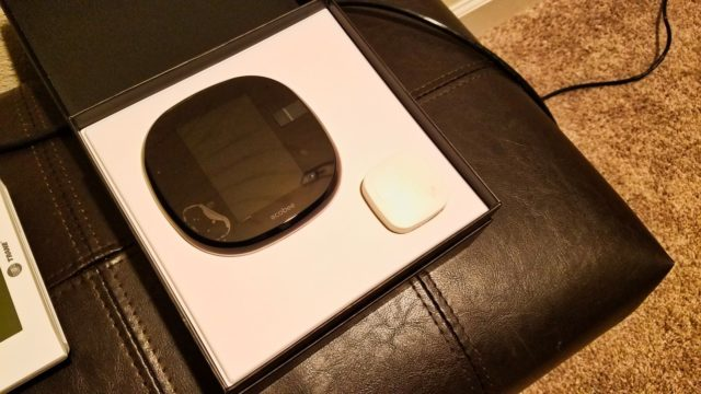 Ecobee4 Open Box for Install - WiFi Alexa Thermostat - Ecobee4 Review