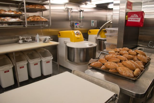 Behind the Scenes Ship Tour - 3rd Deck Galley Bakery Bread Dough Mixers