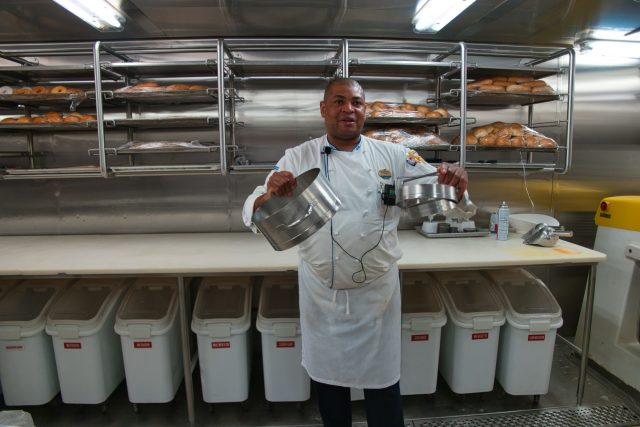 Behind the Scenes Ship Tour - Chef Wong Explains Manual Pizza Making