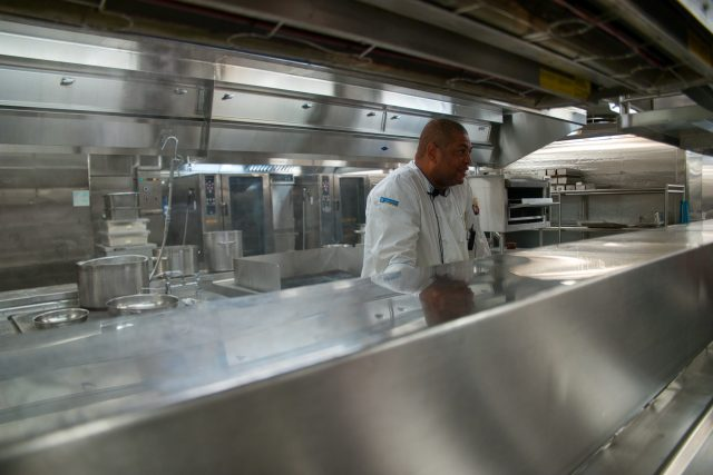 Behind the Scenes Ship Tour - Chef Wong explains the hot kitchen workflow