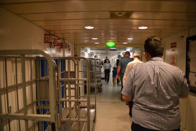 """Behind the Scenes Ship Tour - """"I-95"""" deck one corridor"""