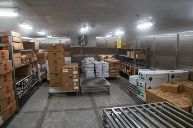 Behind the Scenes Ship Tour - Cold storage area almost empty