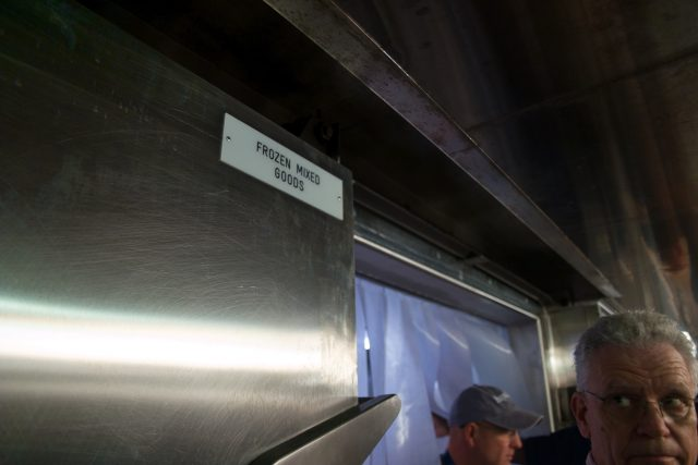 """Behind the Scenes Ship Tour - Cold storage """"frozen mixed goods"""""""