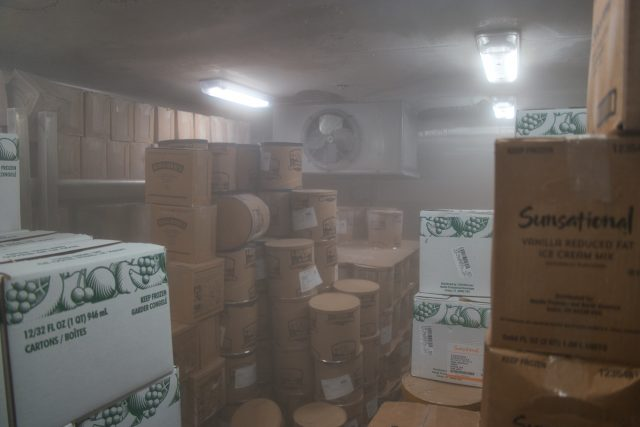 Behind the Scenes Ship Tour - Cold storage - that's ice cream!