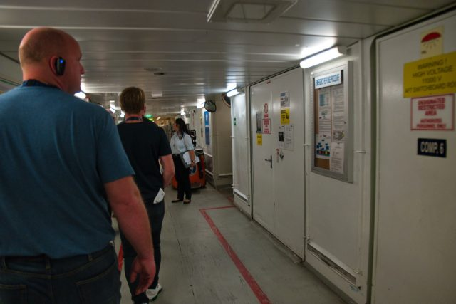 """Behind the Scenes Ship Tour - Walking back down """"I-95"""""""
