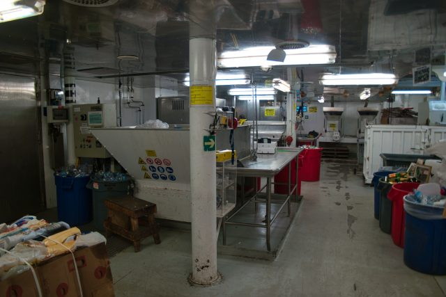 Behind the Scenes Ship Tour - This is the recycling room and incinerators