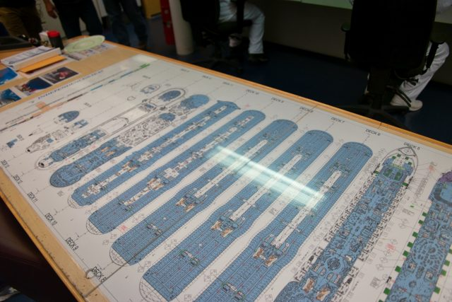 Behind the Scenes Ship Tour - Engine control room ship deck schematics