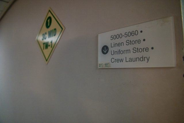 Behind the Scenes Ship Tour - We're headed down to laundry!
