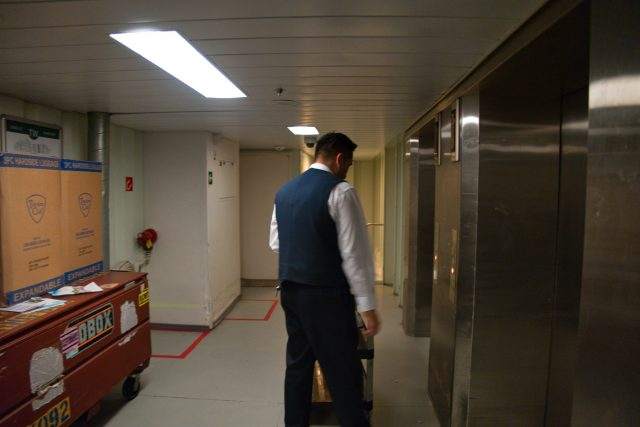 """Behind the Scenes Ship Tour - On deck 0 headed to """"Tween"""" deck. Yes, it's called that."""