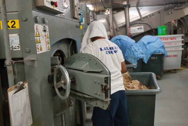"""Behind the Scenes Ship Tour - """"Laundry crew"""" hard at work!"""
