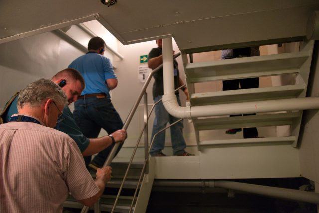 Behind the Scenes Ship Tour - Back up above the water line.