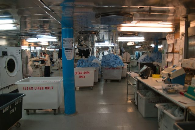 Behind the Scenes Ship Tour - Huge room where the pressing is done.