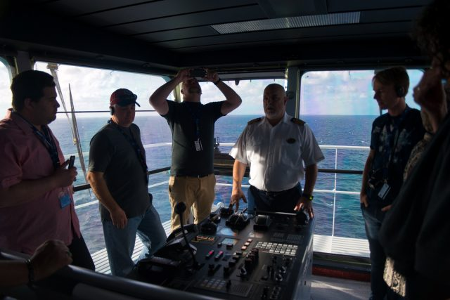Behind the Scenes Ship Tour - Captain Theo explains navigating the ship.
