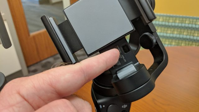 DJI Osmo Mobile has a mobile phone sensor