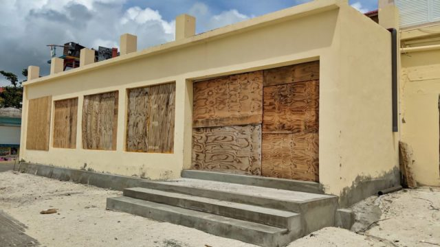 Boarded up building St Maarten Sept 2018