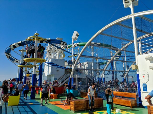 SportSquare activities on board the Carnival Sunshine Ship