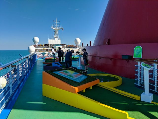 SkyGreens mini golf on board the Carnival Sunshine Ship