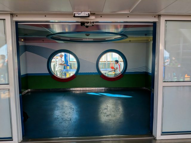 SportSquare portal windows on the Carnival Sunshine Ship