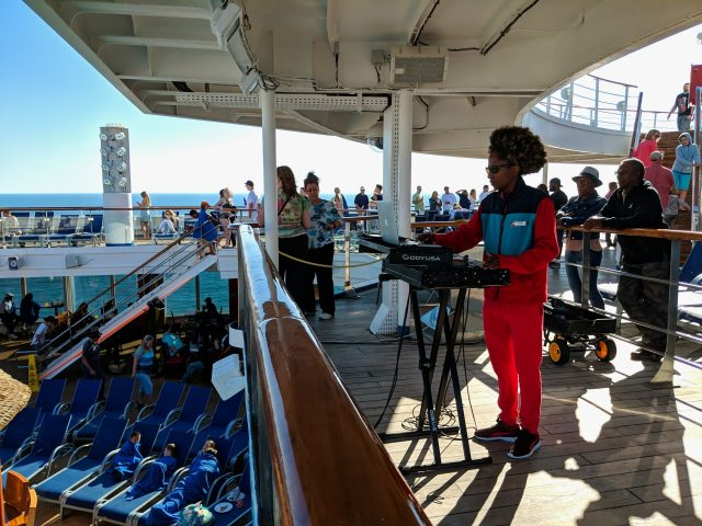 DJ spinning on the Carnival Sunshine Ship